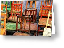 Thirteen Chairs Greeting Card