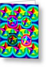 Thirteen Stars With Ring Gradients Greeting Card