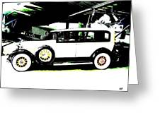 Thirties Packard Limo Greeting Card