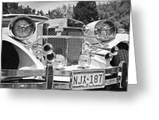 Thirties Roadster Greeting Card