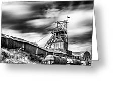Thirty Seconds At Big Pit Mono Greeting Card