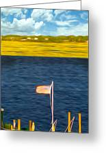 This American Sound Greeting Card by Laura Brightwood