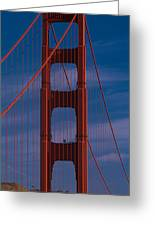 This Is A Close Up Of The Golden Gate Greeting Card