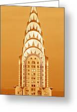 Chrysler Building At Sunset Greeting Card