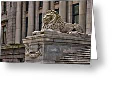 This Is British Columbia No.48 - Vancouver Art Gallery Lion Greeting Card by Paul W Sharpe Aka Wizard of Wonders