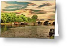 This Morning On The River Greeting Card