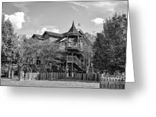 This Old House In Black And White Greeting Card