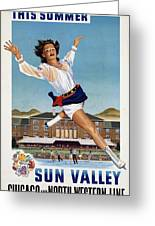 This Summer Sun Valley - Chicago And North Western Line - Retro Travel Poster - Vintage Poster Greeting Card