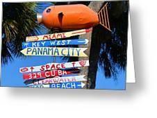 This Way To Florida Greeting Card