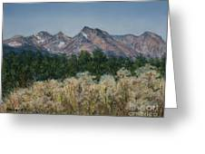Thistledown In The Valley Greeting Card