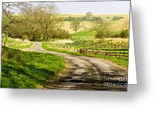 Thixendale Road  North Yorkshire Greeting Card