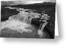Thofafoss Waterfall Iceland 1538 Greeting Card