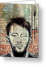 Thom Yorke Greeting Card