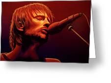Thom Yorke Of Radiohead Greeting Card