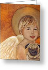 Thomas And Bentley Little Angel Of Friendship Greeting Card by The Art With A Heart By Charlotte Phillips