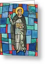 Thomas Aquinas Italian Philosopher Greeting Card by Photo Researchers