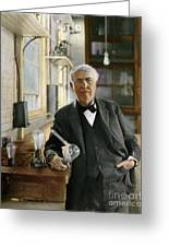 Thomas Edison Greeting Card by Granger