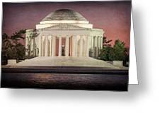 Thomas Jefferson Memorial At Sunset Artwork Greeting Card