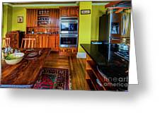 Thomas Kitchen With Old Fashioned Icebox And Refrigerator Greeting Card