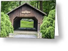 Thomas Malon Covered Bridge Greeting Card