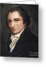 Thomas Paine, American Founding Father Greeting Card