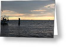 Thomas Point - The Morning Sun Over The Bay Greeting Card