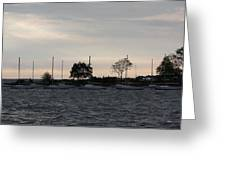 Thomas Point - Waiting To Sail Greeting Card