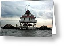 Thomas Point Shoal Lighthouse - Up Close Greeting Card