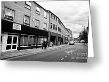 thomas street in the Northern quarter Manchester uk Greeting Card