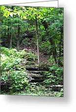 Thorncrown Chapel Setting In The Ozark Mountains Greeting Card
