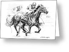 Thoroughbred Best Pal Greeting Card