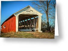 Thorpe Ford Covered Bridge Greeting Card