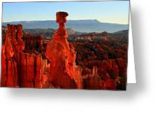 Thor's Hammer In Bryce Canyon At Sunrise Greeting Card