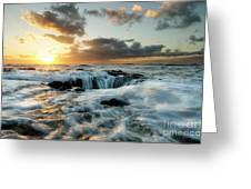 Thors Well Cape Perpetua 2 Greeting Card