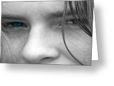 Those Blue Eyes Greeting Card