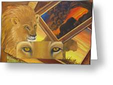 Those Eyes Lion Greeting Card