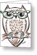 Owl- Those Spectacles  Greeting Card