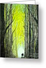Though The Forest To The Light  Greeting Card
