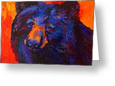 Thoughtful - Black Bear Greeting Card