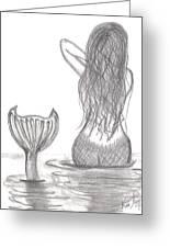 Thoughtful Mermaid Greeting Card