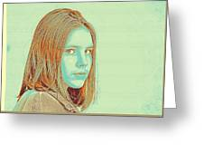 Thoughtful Youth Series 34 Greeting Card