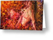 Thoughts Of Pleasure - Palette Knife Oil Painting On Canvas By Leonid Afremov Greeting Card