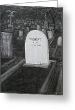 Thoughts  Silent As The Grave Greeting Card