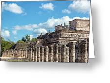 Thousand Columns And Temple Of The Warriors Greeting Card