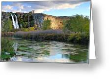Thousand Springs Idaho Greeting Card