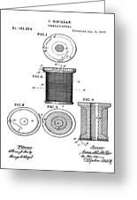 Thread Spool Patent 1877  Greeting Card