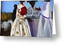 Three African Women Greeting Card