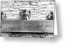 Three Angels On A Mantel Greeting Card