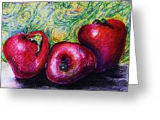 Three Apples Greeting Card
