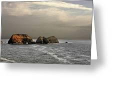 Three Arch Rocks - Oceanside Near Cape Meares - Oregon Greeting Card